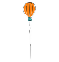 balloon in shape a balloon on white background vector image