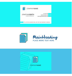 beautiful document logo and business card vector image