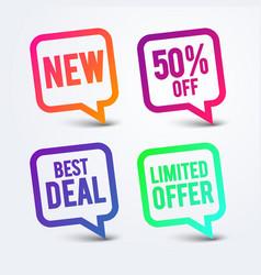 best deal speech bubble new sticker 50 off label vector image