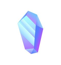 blue iridescent stone crystal precious gemstone vector image