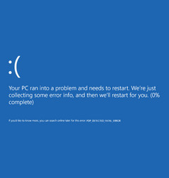 Blue screen of death vector