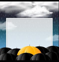 Rain Umbrella Frame Border Vector Images 24