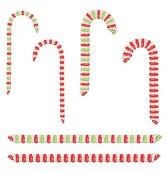 Candy Canes Set2 vector image