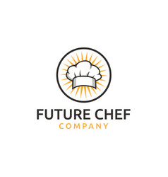 Chef hat headgear cook kitchener chef logo vector