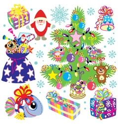 christmas set for kids vector image