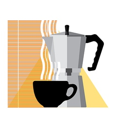 Coffee cup and coffee machine vector