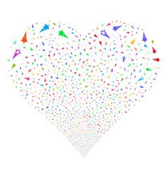 confetti stars fireworks heart vector image
