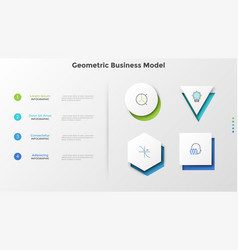 creative infographic template vector image