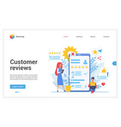 customer people review vector image