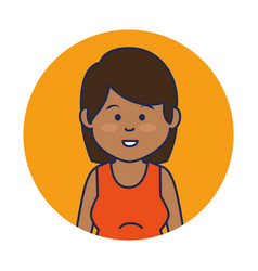 cute woman ethnicity character vector image