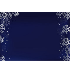 decorative frame of silver snowflakes vector image