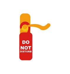 Do not disturb sign and door knob vector