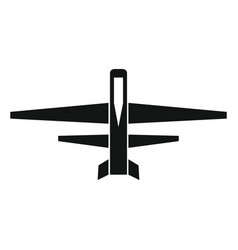 drone icon in black style vector image
