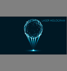 Eps10 hologram neon sphere on a black background vector