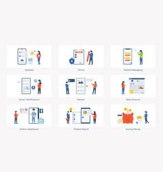 Feedback app flat pack vector