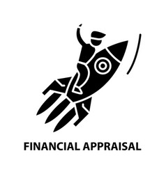Financial appraisal icon black sign with vector