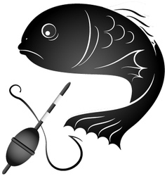 fish and fishing gear vector image