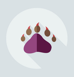 Flat modern design with shadow icons bear trail vector