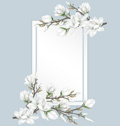 flower branches on paper vector image
