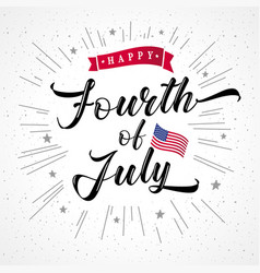 Fourth july usa vintage inscription vector