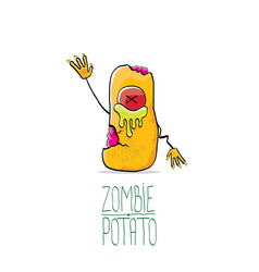 funny cartoon cute orange zombie potato vector image
