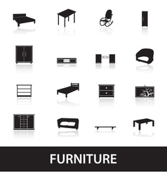 furniture types icons eps10 vector image