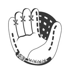 Glove icon Baseball design graphic vector