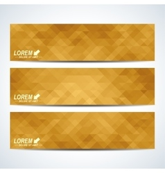 Golden set of banners Background with gold vector