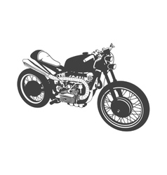 gray motorbike vector image