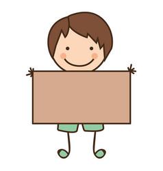 happy boy with card icon vector image
