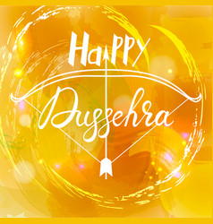 Happy dussehra festival indian with bow vector