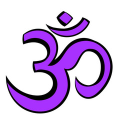 hindu om symbol icon cartoon vector image