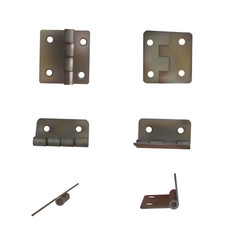 hinge for doors set of brass or vector image