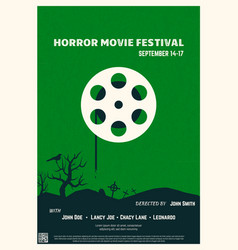 Horror movie poster vector