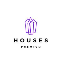 house home mortgage logo icon vector image