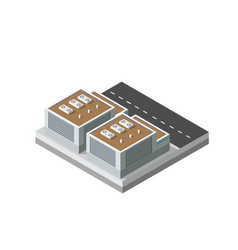 Industrial objects plant factories isometric vector