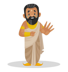 King janaka cartoon character vector