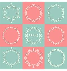 Line frames set vector