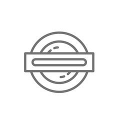 london underground metro train line icon vector image
