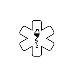 medicine ambulance icon black vector image