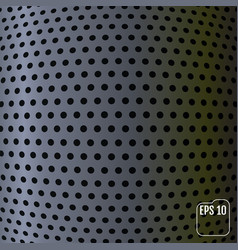 metallic background carbon sphere concept vector image