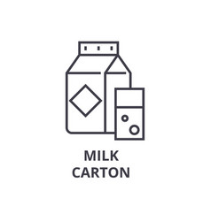 milk carton line icon outline sign linear symbol vector image