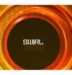 Orange abstract flow background vector
