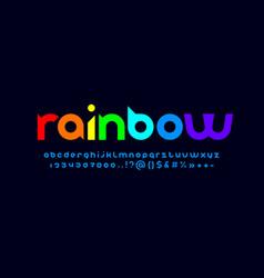 Original modern alphabet rounded bright font vector