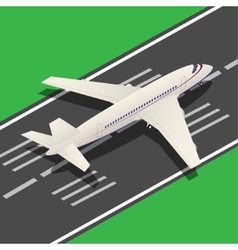 Passenger Airplane Isometric Landing vector