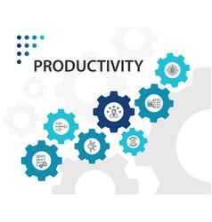 Productivity infographics design timeline vector