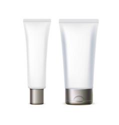realistic plastic tube for medicine or cosmetics vector image