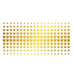 royal golden halftone pattern vector image