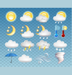 set different weather icons vector image