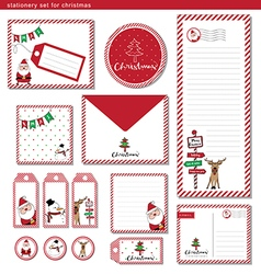 stationery set for christmas vector image